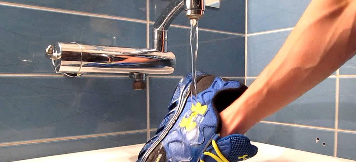 scarpe new balance lavatrice